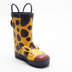 Оптовая торговля новой моды 3D-Жираф водонепроницаемый малышу резиновые Дети дождя Two-Tone Wellies резиновую обувь для детей