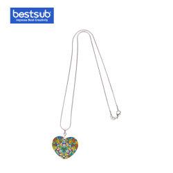 Bestsub Sublimation-Heart-Shaped Shell-Halsketten-Form-Schmucksache-Geschenk (25*30mm)