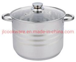 Utensílios de Cozinha de alta qualidade culinária fabricante profissional Stock Pot com tampa de vidro