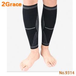 Professional Deportes flexible de tejido de ganchillo para deportes de la seguridad de protección de la pantorrilla