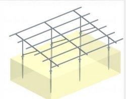 Support de montage au sol projet PV SOLAR Structures de montage en rack de montage en aluminium renouvelable Énergie solaire PV Kit de montage du système de rayonnage C pile