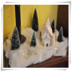 Pelusa suave artificial blanco nieve de tirar la decoración de Navidad (16 oz)