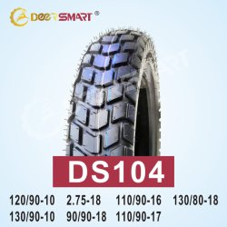 La taille de bonne qualité 120/90-10, 110/90-16, 110/90-17, 130/80-18 Pattern 2.75-18, DS104 de pneus pour motos de type de tube