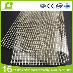 천막 Windows 덮개를 위한 PVC 투명한 명확한 많은 메시 레노에 의하여 박판으로 만들어지는 방수포