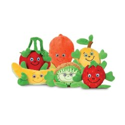 견면 벨벳에 의하여 채워지는 PP 면 연약한 주문 공장 과일 야채 장난감