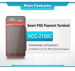 열 인쇄 기계 (HCC-Z100C)를 가진 1개의 WiFi+Fingerprint 소형 POS 단말기에서 지능적인 인조 인간 전부