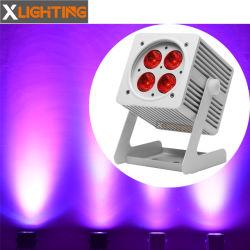 웨딩 장식 4pcs LED 무선 배터리 평면 파 DJ 조명 스테이지 쇼를 위한 LED PAR Light