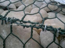 3.7mm 녹색 PVC Gabion Basket Gabion Box 리테이닝 월 가봉 와이어 메시
