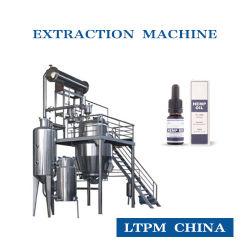 Grandes Sementes Contínua Cbd/ Cânhamo purificador de óleo crude Ganoderma Extração de óleo Óleo Essencial Máquina destilador