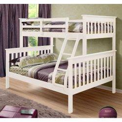 現代デザイン普及した純木の三倍のマツ二段ベッド