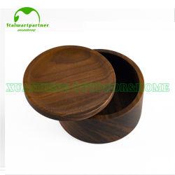 OEM de Houten Doos van het Bamboe van de Gift van de Juwelen van het Pakket van de Opslag van het Embleem van de Gravure