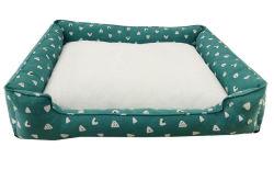 Overstuffed Luxuxnichtstuer gedrucktes Baumwollhaustier-Bett