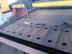 Grote dikte Koolstofstaal CNC Vlammes snijuitrusting
