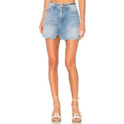 Buena calidad de luz azul señoras corta en forma de una falda Jeans