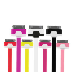 Нейлоновый кабель синхронизации данных зарядное устройство USB 4 для iPhone / iPod
