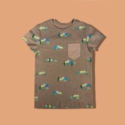 Малые сломанные цветы чистый карман Кид Tshirt износа