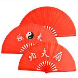 Douane de Stof die Chinese Kungfu van de Zijde van het Bamboe van 13 Duim de Ventilator van de Hand vouwen