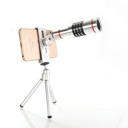 Câmara em alumínio de alto nível universal ajustável de zoom da lente de zoom 12x