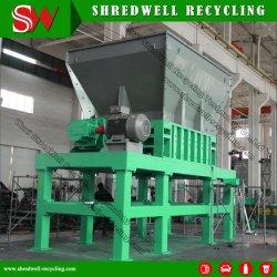 Máquina trituradora eje doble reciclar usa/neumático viejo/Metal