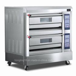 パン屋装置の/4の皿のガスのデッキのオーブン/ガスのパンのオーブン