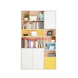 Novo modelo de livro de madeira armário com portas Estante Estante