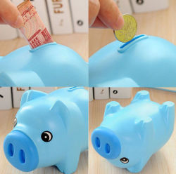 Moneta Denaro Contante Collectable Risparmio In Plastica Pig Toy Safe Box
