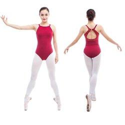 Женщин Camisole балет Leotard с кружевной Leotard красного цвета для танца костюм современный тренажерный зал Leotard Балетные костюмы для продажи для взрослых CS0302