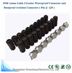 Gegentaktverbinder-Hersteller des Luftfahrt-Stecker-Kabel-IP67 Backshell