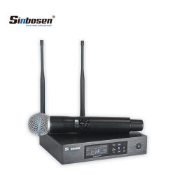 Micrófono vocal Sinbosen Qlxd4 inalámbrico Antena 2 Micrófono de Karaoke