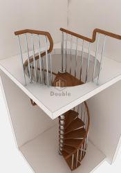 Escalier en bois massif des girons/Bande de roulement de l'escalier décoratif