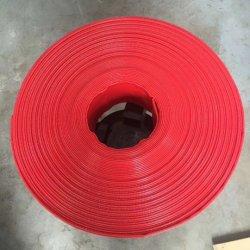 Plastic-Met een laag bedekte Slang van de Pijp van het Water van de hoge druk PVC/TPU de Flexibele Layflat