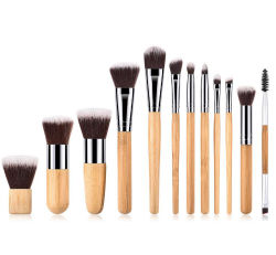 Qualitäts-kosmetisches Firmenzeichen passte Bambuspinsel-Verfassung an