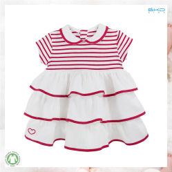 Polo Pescoço orgânicos programável de Desgaste do bebê vestido de bebé
