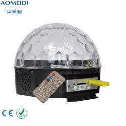 6PCS 1W LED illumina la piccola illuminazione magica di cristallo del partito della sfera