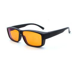 Обертываемый Fit-Over Wear-Over компьютер очки синий блокирование желтые очки сна