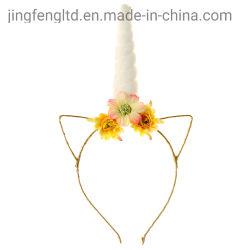 2019 Unicorn Ajustável Meninas Flores Hairband para crianças de orelhas de gato Unicorn Horn Parte Acessórios de cabelo
