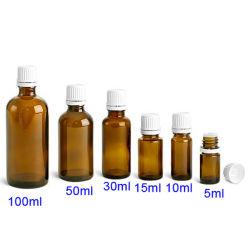 50ml Essence bouteille d'huile de gros compte-gouttes en plastique orange Bot