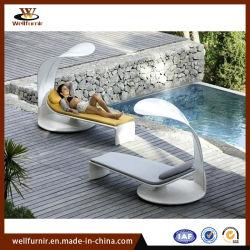 屋内屋外の家具の藤のあるベッド(WF-310)を折るFurnirの健康な寝台兼用の長椅子