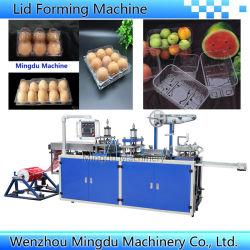 Het automatische Vakje VacuümThermoforming die van de Verpakking van Clamshell van de Vruchten van het Dienblad van de Dekking van het Deksel van de Kop van de Koffie van het Document van de Hoge snelheid Plastic Vlakke het Vormen van Machine maken