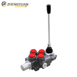 Caliente una sola palanca calidad 120L/M de la válvula de control hidráulico de flujo+rotativa/palanca de mando neumático