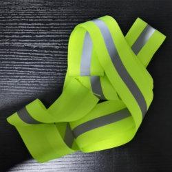 Coser sobre poliéster cinta reflectante cinta de opciones para ropa de trabajo