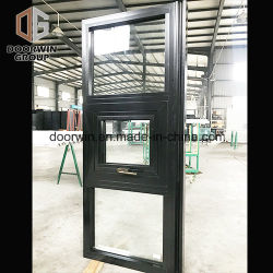 نافذة كلاسيكية سوداء اللون ألومنيوم / إزالة السفا