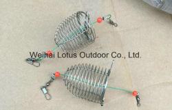 La Jaula de cebo de acero inoxidable del alimentador de cebo de pesca señuelo carpa carpa de la jaula la jaula de pesca