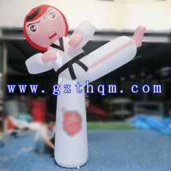 Taekwondo Inflatable Cartoon 또는 Inflatable Cartoon Figures/