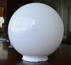 사용되는 가벼운 아크릴 구체 램프 갓 300mm Diamter 옥외를 위한 아크릴 지구