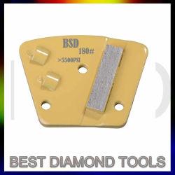 Bonos de metales policristalinos de diamantes Trapecio (PCD) Muela Herramienta para la eliminación del revestimiento de preparación de hormigón