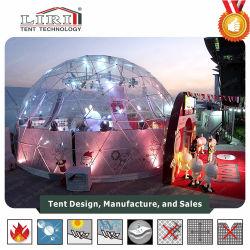 خيمة قبة قابلة للنفخ مصنوعة من مادة PVC (الدائرة الظاهرية الدائمة)، خيام خارجية شفافة جوديسية شفافة