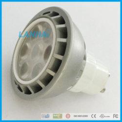 灰色アルミニウム軽いコップMR16/E27/GU10/Gu5.3の高い発電7W LEDのスポットライト