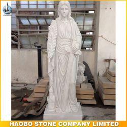 정원 Decoration를 위한 백색 Saint 바바라 Status Granite Carvings
