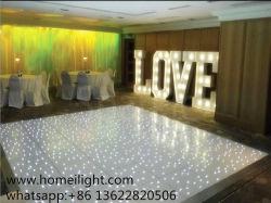 Boda moda Discoteca La luz blanca LED iluminado por las estrellas del Panel de pista de baile para la venta